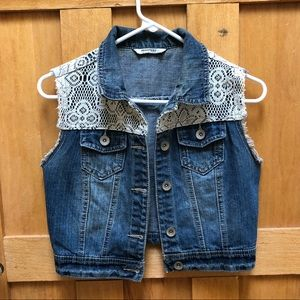 Highway Jean Jean Vest with White lace